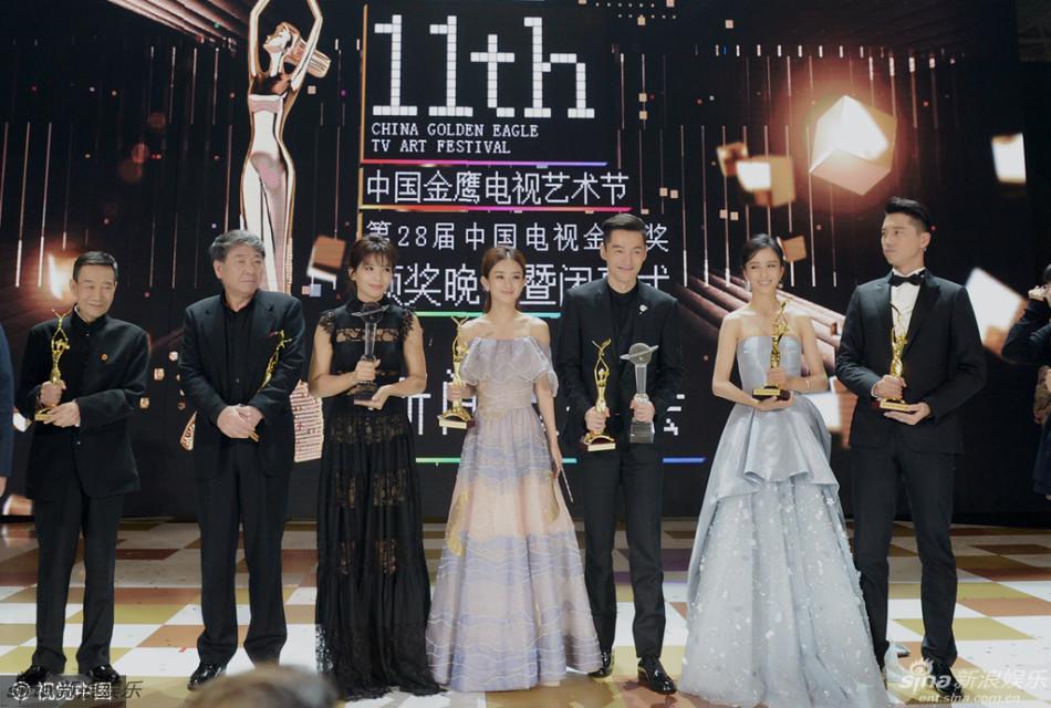 2016金鹰节胡歌获两项大奖 赵丽颖获金鹰