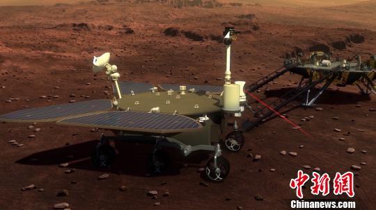 中国火星探测计划正式立项,图为未来中国火星着陆器和巡视器。 主办方供图