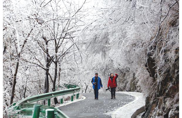 大洪山雪景赏析