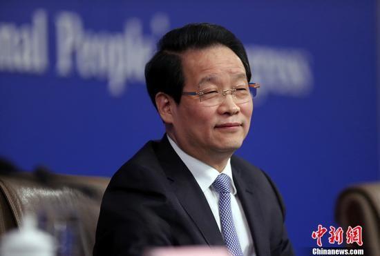 资料图:项俊波。 中新社记者 汤彦俊 摄
