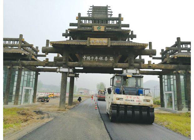 洛阳镇千年银杏谷道路扩建工程顺利完成