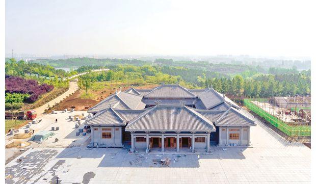 炎帝故里风景区新游客中心主体工程完工