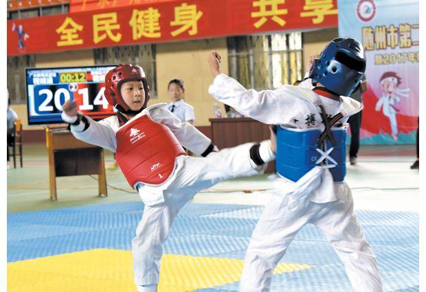 w88优德体育市第二届运动会青少年组跆拳道比赛举行