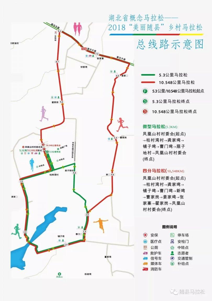 """2018美丽随县乡村马拉松赛道""""一线串珠11湾""""!"""