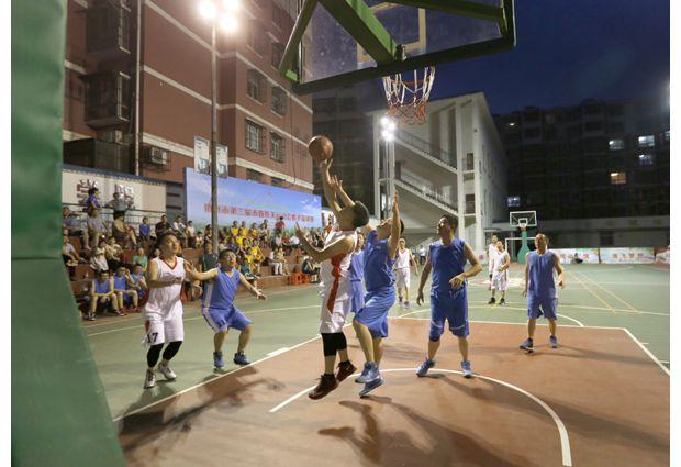 隨州第三屆市直機關運動會籃球賽開賽