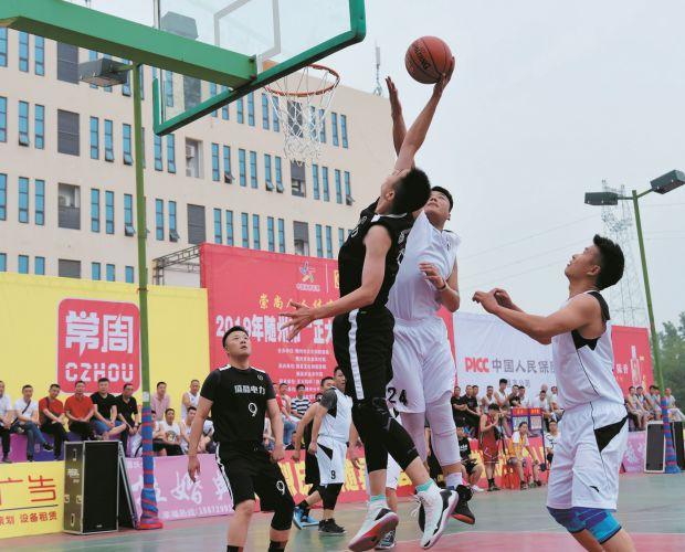 重点乡镇篮球赛开赛